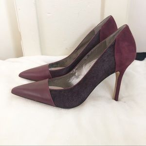 Sam Edelman | Burgundy Cow Hair Desiree Pumps